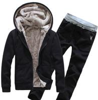 2014 Spring winter Free shipping comfort single copper metal zipper design Men's suit Fleece sweater pants hoodies sport set.