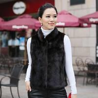 atacadista de roupas femininas colete pele New arrival 2014 fur vest waistcoat faux mink hair vest