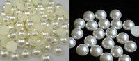 Free Shipping 50pcs 25mm Half Round Flatback ABS Imitational Pearls Garment Beads Scrapbooking Decoration  DIY