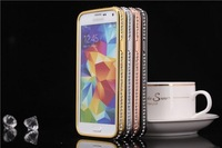 Luxury Bling Crystal Deluxe Diamond Metal Bumper Case 4 Samsung Galaxy S5 i9600