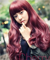 KANEKALON long wavy wigs curly cute girl synthetic lace front cosplay young lolita 2014 new cheap hair sythetic