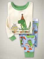 Free Shipping,baby boys girls Pure Cotton Knit Rib long sleeve T-shirt+pant pajamas 6pcs/lot