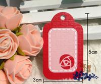 Free shipping (500pcs/lot), Paper clothing/garment hang tags Gift packaging tags