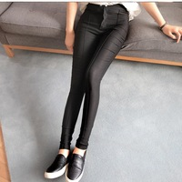H6584 2014 summer women's stretch pants Slim thin elastic waist stretch pants Korean version of casual trousers