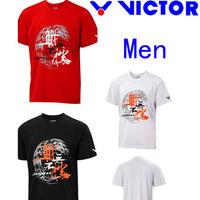 3 Colours , Victor sportswear Man shirts , Victor badminton clothes  , Tennis shirts ( 1 pcs shirt )
