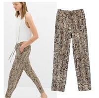 Brand New 2015 Women's Fashion Punk Stylish Snake Pattern Print Casual Pants Harem Pants SML