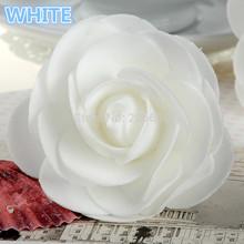 50 branco rosas de espuma bola Pomander casamento ornamento de cristal carro espuma rosas cabeça moda carnaval pulseira acessórios mantilha(China (Mainland))