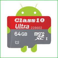 Real capacityMicro SD Card 64GB Class 10 Memory Card Flash Cards Micro SDXC SDHC Microsd TF Gift Adapter MicroData Free Shipping
