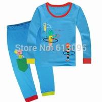 Free Shipping,Baby boys girls Pure Cotton long sleeve T-shirt+pant pajamas suit/clothing set  6pcs/lot