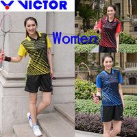 New Victor Badminton clothes women , tennis Jerseys, badminton women T-shirts (tops +shorts)