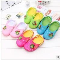2014 summer new children's cartoon hollow shoes sandals fashion sandals little frog children