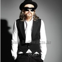 2014 men's clothing medium-long slim vest mj01     Fashion vest   p85
