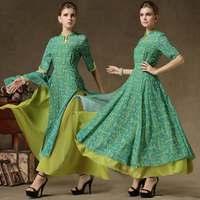 New Hot Women 2014 Fashion Elegant Slim Women Girls Vintage Elegant Improved cheongsam Flower Printed  Casual Dresses