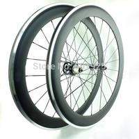 3K Matt 700C 60mm Carbon Clincher Wheels Road Bike Wheels With Alloy Braking Surface Powerway Hubs R13 CN Aero Spokes