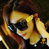 Free shipping women's Anti-UVA Anti-UVB sunglasses European and American big box coarse linen lace Jintui imitation metal chain