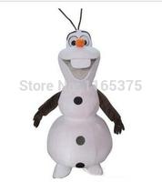 2014 Hot sale popular cartoon forzen snowman Olaf mascot costume EMS free shipping