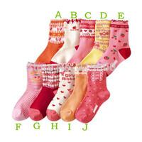 Free shipping very beautiful girl socks fruit children cotton socks for 4 - 10 years girl