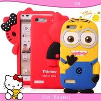 Free shopping for huawei G6 mobile phone case for huawei g6 protective case cell phone case silica gel set