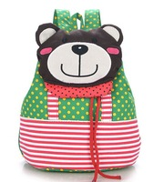 2014 new flip Bear head cartoon children children's leisure bag backpack schoolbag baby Shoulder bag kid bag
