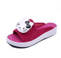 New 2014  Hello Kitty shoes girls cute flat shoes women leisure slip shoes big size 36-39