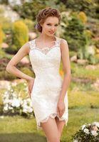 Stunning New Short/Mini White/Ivory Lace Wedding Dress Custom Made All Size 6-26