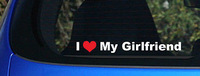I love my Girfriend decal sticker heart Girl Friend best wife lover woman sexy,funny car stickers