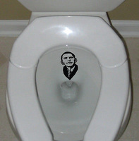 Literally piss on Obama funny decal sticker troops toilet bathroom funny decor,funny car stickers