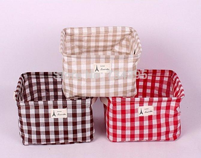 Foreign trade cotton pouch zakka green debris Books creative storage box Desktop Storage baskets home cloth storage bucket(China (Mainland))