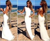 2014 New Fashion Women Dress Elegant wedding dress Backless White dresses