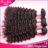 "Flower Season Wholesales 5pcs lot malaysian virgin human hair,deep curly hair for sale 10""-28"""