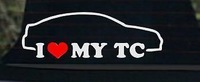 I LOVE MY tC Sticker Die Cut Decal Scion illest fresh  turbo slammed dope,funny car stickers
