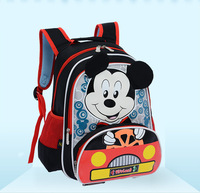 Hot sales mickey mouse pattern backpacks polyester cartoon children school bags kid bags free shipping