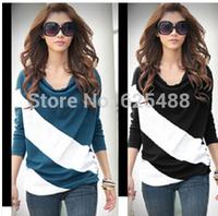 Hot sale!!! Free shipping 2014 Fashion Good Quality Cotton T Shirt Women  Tops Round T-shirts tee shirts for women