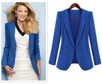 Free shipping 2014 autumn new fashion coat jacket shirt Slim small suit jacket Overalls for Women SizeXL XXL XXXL XXXXL