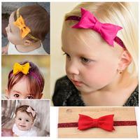 2014 limited acessorios para cabelo hair clip girl hairwear felt bow headband bowknot with elastic onions headdress freeshipping