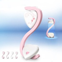 10pcs 2014 the lastest creative double heart-shapped mini LED desk lamp as lovers classmates,friends gift