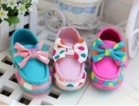Lowest Price Fashion spring & autumn breathable polka dot slip-on Children causal Shoes Baby Kids Boys Girls Sneaker retail