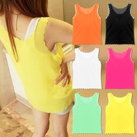 HOT!!! Korean Women Lace Chiffon Shirt Shirt Bottoming Camisole A215 Free Shipping
