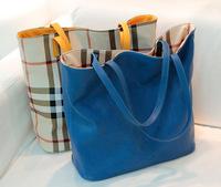 Sale 2014 brand design plaid 2pc/set classic England Preppy leather handbags women sholuder  messenger bags cross body big totes