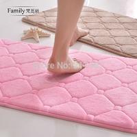 """Hot Sale 16""""X24"""" Pink Slow Rebound Memory Foam Bath Mat Bathroom Slip-Resistant Mats Absorbent Floor Doormat Kitchen Prayer Rug"""