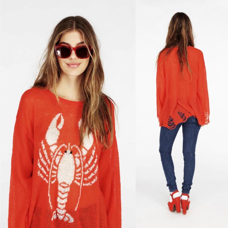 Женский пуловер wildfox wildfox holeLobster