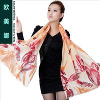 Oumeina High-grade scarf shawl pashmina  size 180cm X 71cm tulip design printed,  keep warm,winter best choice/gift  LJD-W23