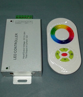 Low voltage 12v colorful lights zone wireless controller rgb led strip full touch rf controller 12a remote control