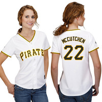 Free Shipping Pittsburgh Pirates #22 Andrew McCutchen Women's Baseball Jersey Authentic Cool Base Double Stitched Lady Jerseys