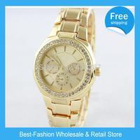 DHL Free Shipping 11pcs/lot brand Diamond Watch Rose Gold For Women silver for Men fashion Wristwatch Janpan Quartz 3Color