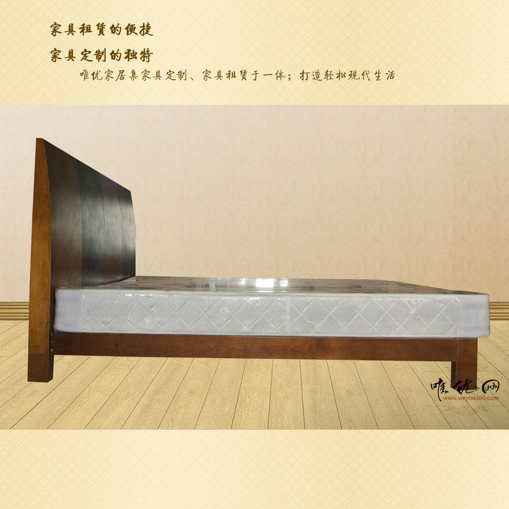 minimalist modern double bed plate bedroom rental price 1