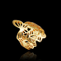 PR276/277 Wholesale 18K Gold Plated the Ring o anel bague women aneis para as mulheres joias ouro
