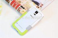 for Samsung Galaxy S5 I9600 Bumper Multi-color Frame  Zenus Walnutt Multi Colored Shell Cover Soft TPU+PC Plastic 2pcs