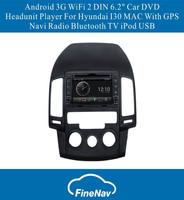 "Android OS S150 3G WiFi 2 DIN 6.2"" Car DVD Headunit Player With GPS Navi Radio Bluetooth TV iPod USB For Hyundai I30 MAC"
