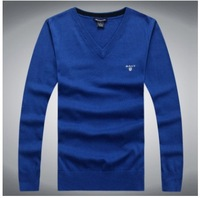 Hight Quality    Europe  brand New 2014 spring and autumn 100% cotton men pullovers sweater  men sport casual sweaters